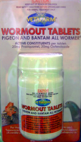 Pigeon and Bantam Worming Tablets
